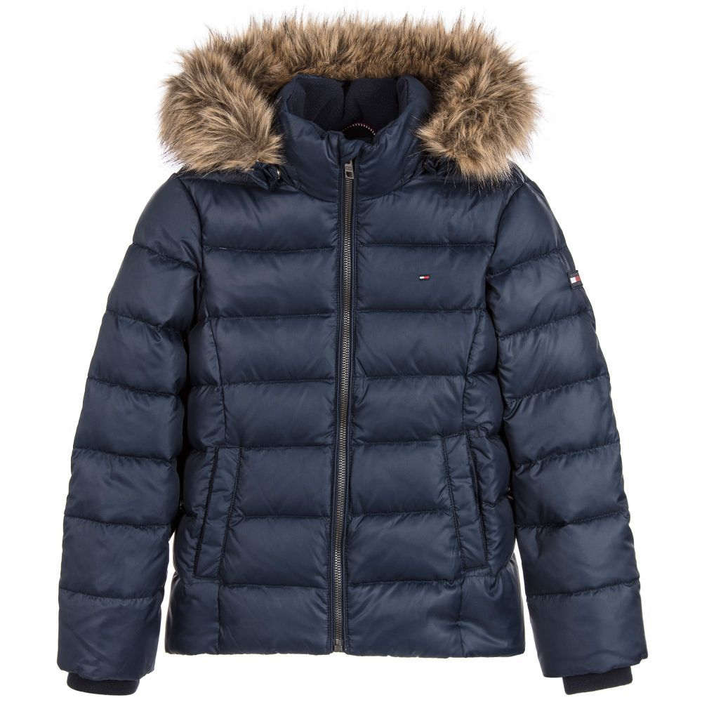 99b52963c Girls Blue Down Padded Jacket