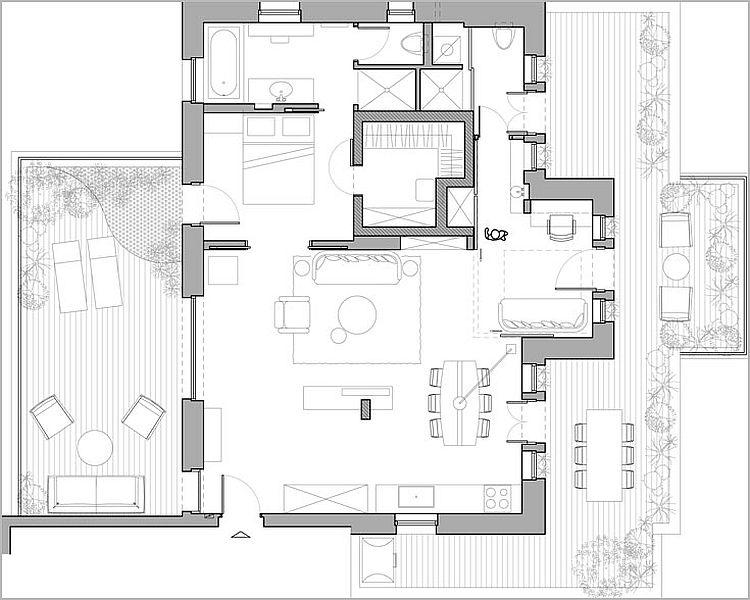 Lovely Explore Bathroom Floor Plans Modern Apartments And More Floor Plan Of  Fabulous Modern Apartment In Israel Plans Pinterest