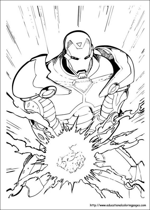 Iron Man Coloring Pages | Coloring_Boys | Pinterest