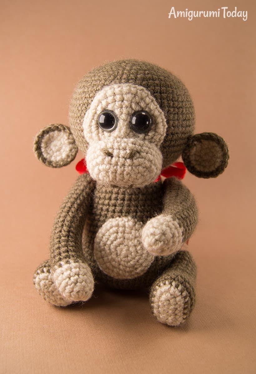 Mono, patrón gratuito | Patrones amigurumi | Pinterest | Mono ...