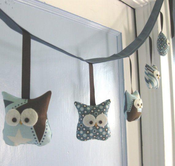 LOVE! owl garland! | Cosas para hacer | Lechuzas, Costura y Guirnaldas