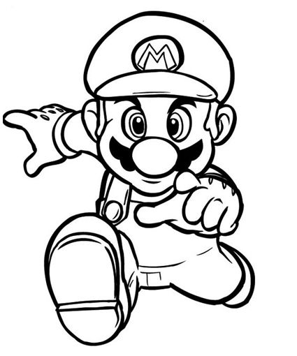 Super Mario Bros Coloring Pages.. 39 pictures to print and color ...