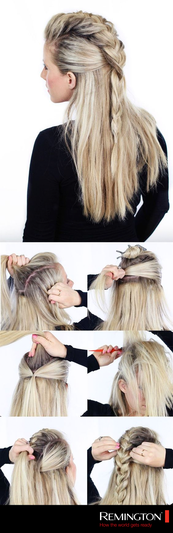 stunning half up half down hairstyles style hair mohawks and