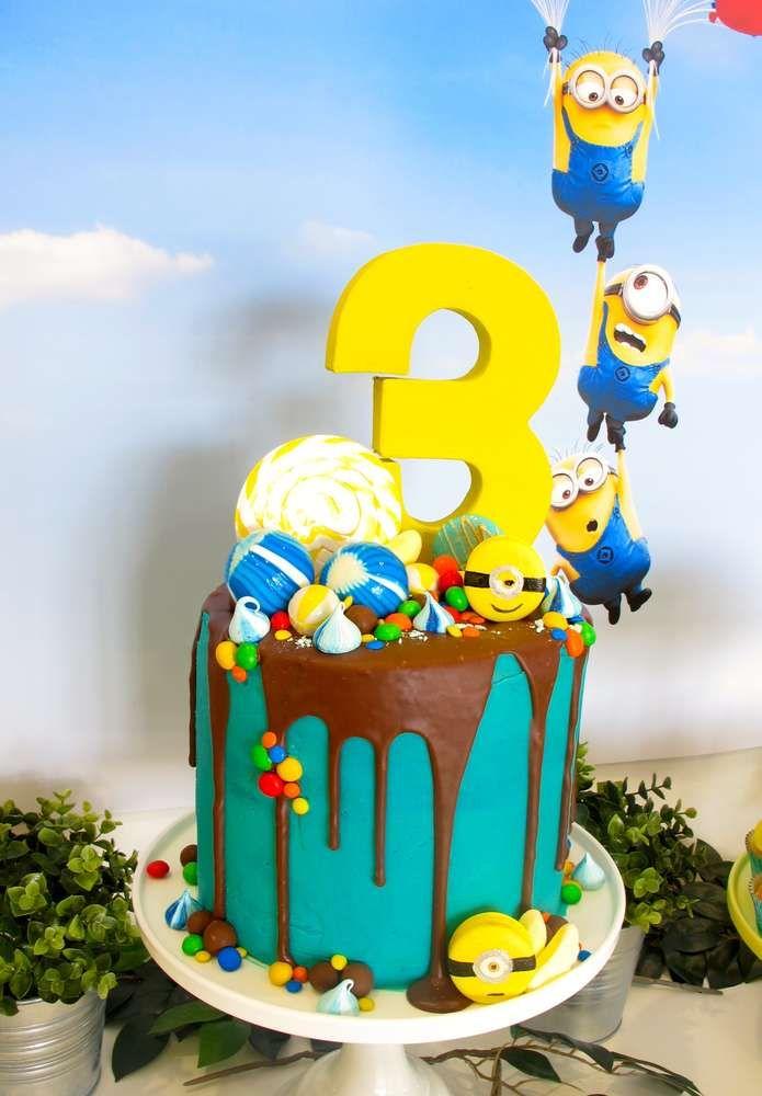 Despicable Me Minions Birthday Party Ideas Com Imagens Bolos