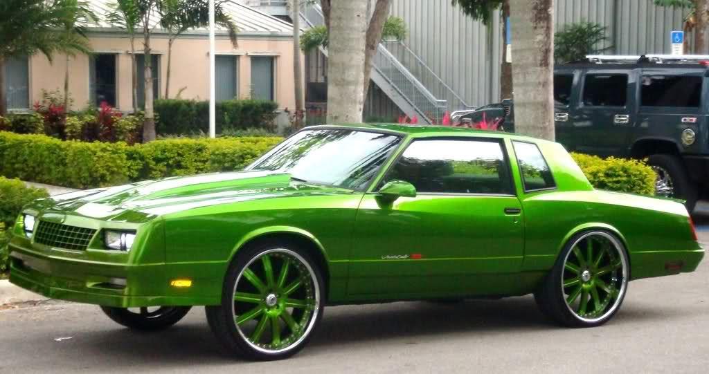 custom cars donks | Monte Carlo green | cars | Pinterest | Custom ...