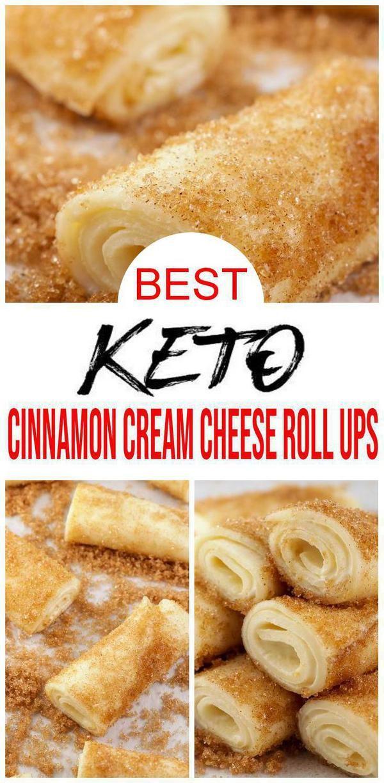BEST Keto Cinnamon Cream Cheese Roll Ups – Low Carb Keto Cinnamon Cream Cheese Recipe – Quick and Easy Ketogenic Diet Idea