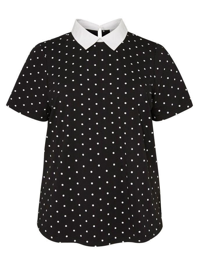 Dotted top from JUNAROSE. Pair with denim jeans and a light jacket.