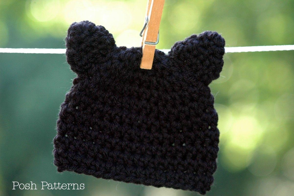 CROCHET PATTERN - Crochet Kitty Cat Hat Pattern - Halloween Costume ...