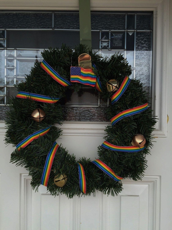 Gay Pride Wreath Christmas Wreath Gay Pride Gay Pride Flag .