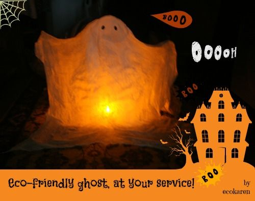 Make your own {eco}-friendly ghost for Halloween - halloween decorations to make on your own