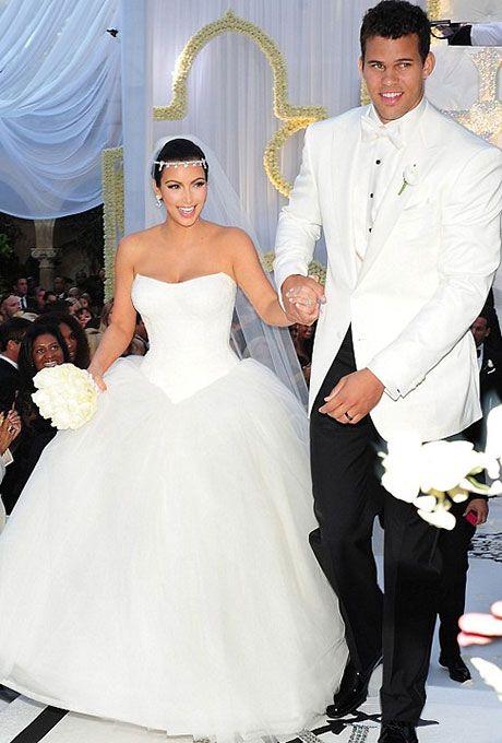 Celebrity Weddings And Engagements Kim Kardashian Wedding Dress Kim Kardashian Wedding Kardashian Wedding