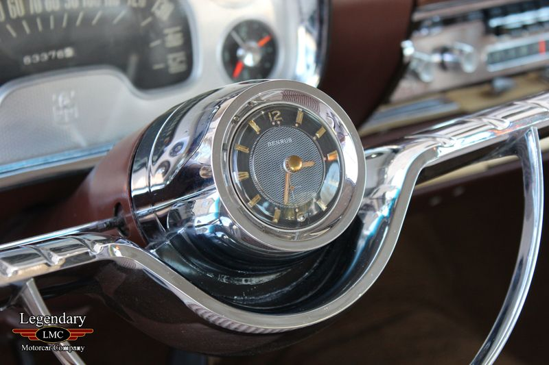 Steering Wheel Clock Insert In A 1957 Plymouth Fury Classy Cars Vintage Cars Classic Cars