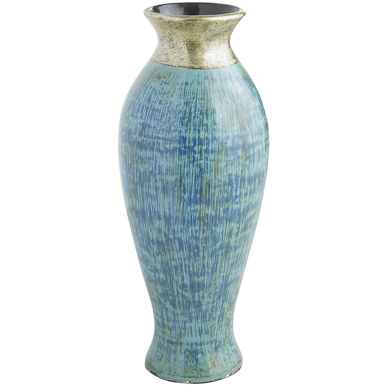 Teal metallic floor vase blue terracotta decor vases teal metallic floor vase blue terracotta reviewsmspy