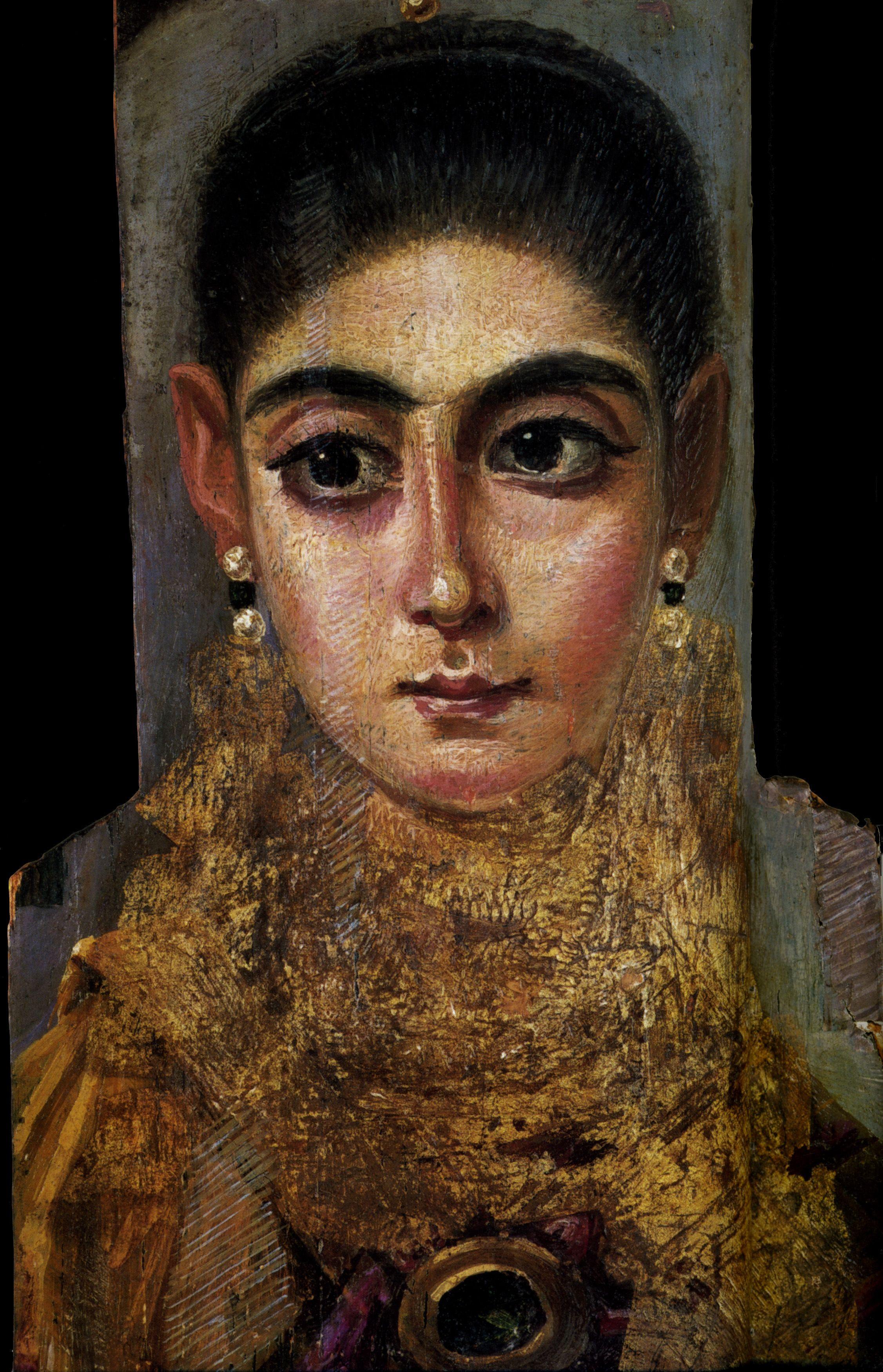 aquí y ahora: Retratos de Fayum - pintura, arqueología en
