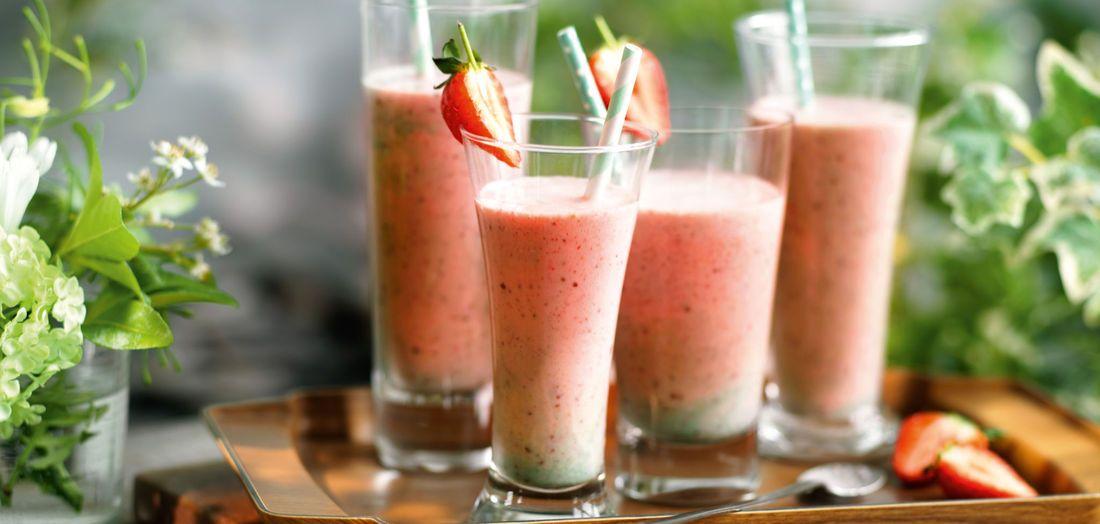 Erdbeer-Minz-Milchshake http://www.lidl-rezeptideen.de/de/Rezepte/Erdbeer-Minz-Milchshake