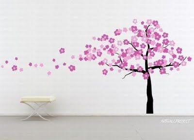 Anese Cherry Blossoms Tree Wall Decor Room Garden Nursery Art