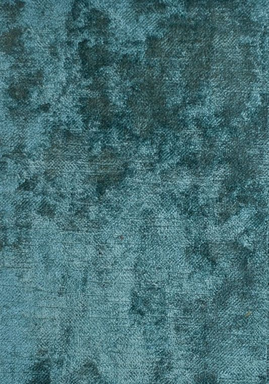 Dapple Velvet Dappled Upholstery And Curtain Fabric In Teal