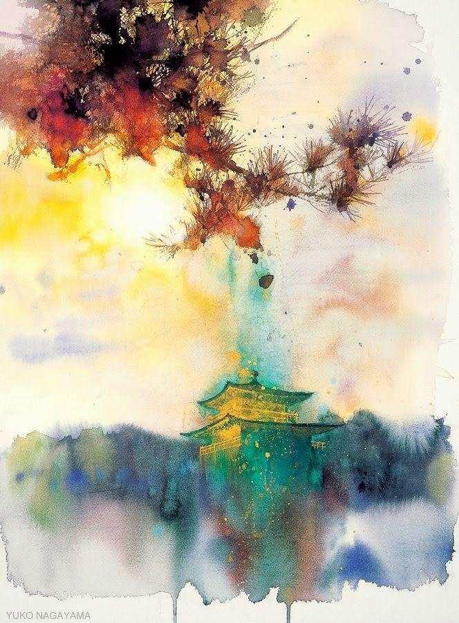 Watercolor Cover Painting To Samurai Samurai Artwork Samurai