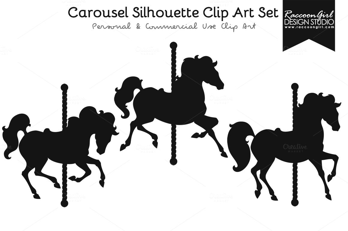Carousel Horses Silhouette