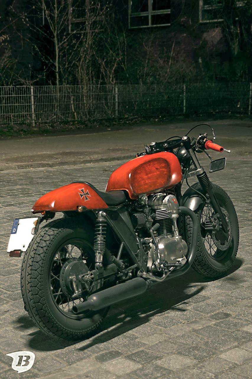 Kawasaki W650 Cafe Racer Red Baron Kawasaki W650 Cafe Racer