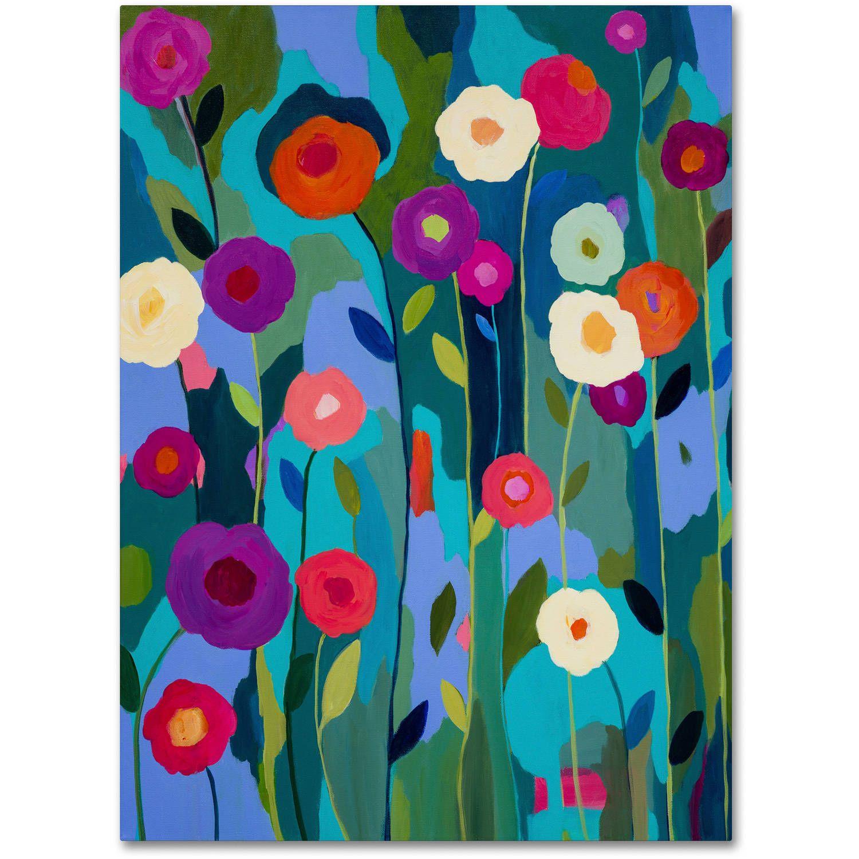 Trademark Fine Art Good Morning Sunshine Canvas Art By Carrie Schmitt Walmart Com Floral Wall Art Canvas Art Floral Painting