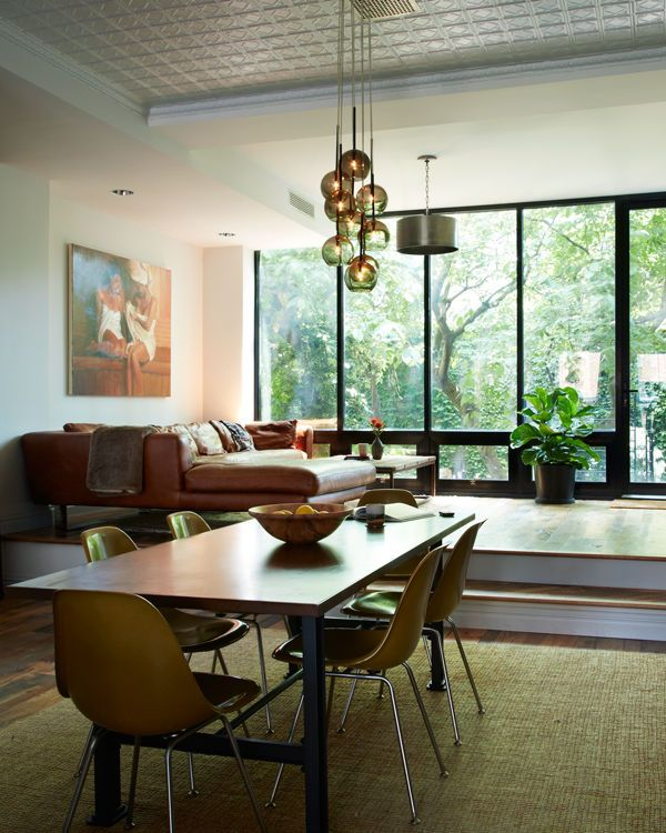 Light Filled Contemporary Living Rooms: Light-filled NYC Townhouse Renovation Offers Comfortable