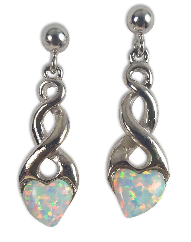 Opal Heart Earrings  Sterling Silver  The Celtic Croft  True to Heritage  C  Opal Heart Earrings  Sterling Silver  The Celtic Croft  True to Heritage  Celtic Jewel
