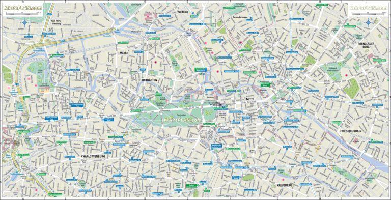 Cartes Et Plans Detailles De Berlin Carte Et Plan Berlin Et