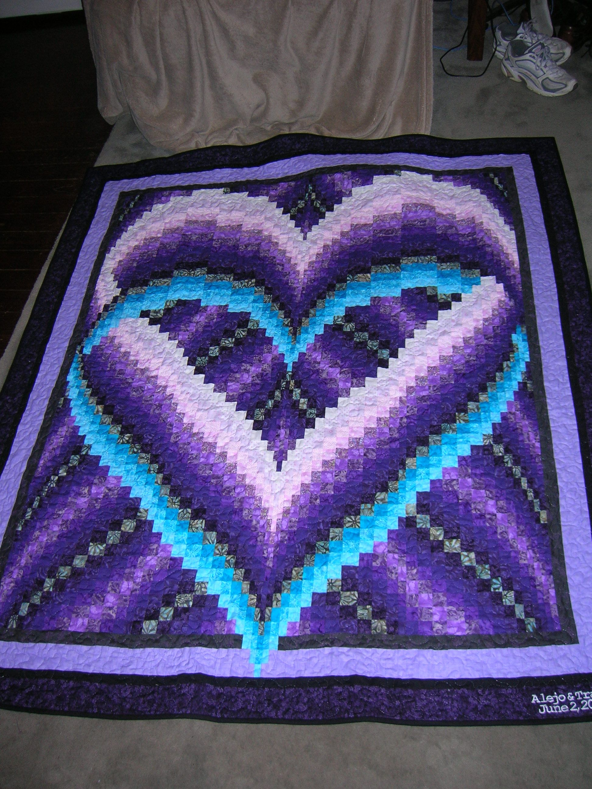 Homemade Quilts For Sale >> wedding quilt I made for my daughter | Craft Ideas ...