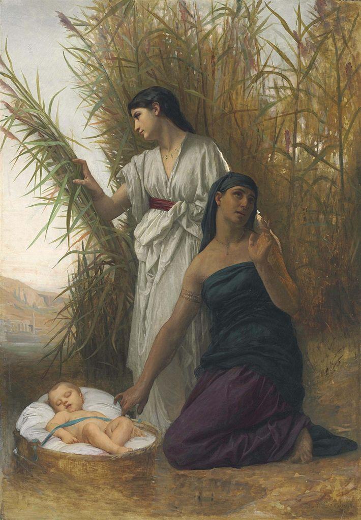 Elizabeth Jane Gardner Bouguereau  (b. 1837, d. 1922) ,  Moses in the Bulrushes