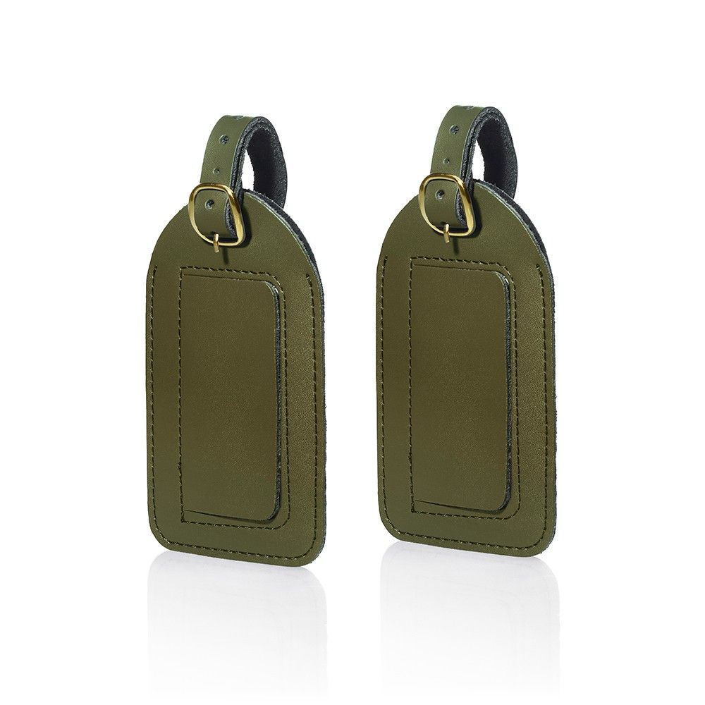 Travel Smart Leather Luggage Tags - Olive Green   Pinterest ...