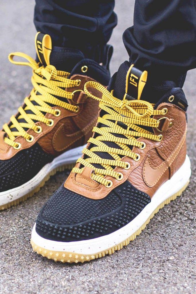Nike Air Force 1 Botte De Canard De La Chaussure Tan Britannique pas cher  2015 Le