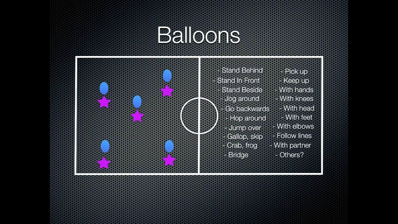 Physical Education Games Balloons Physical education