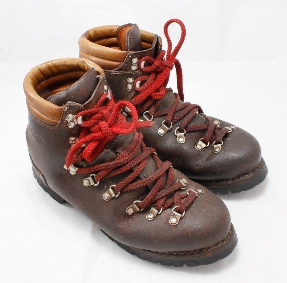 vintage kastinger italian brown leather hiking
