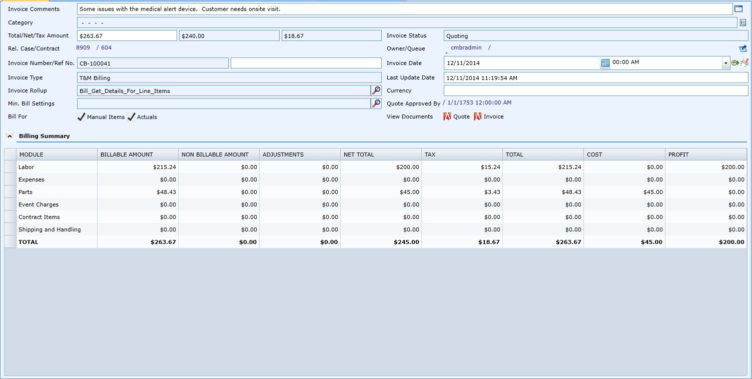 Consolidated Invoicing for Field Service Companies