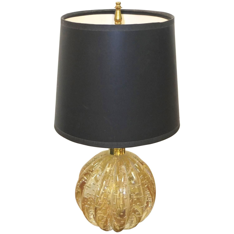 Bullicante Glass Ribbed Ball Lamp By Vetreria Archimede Seguso Ball Lamps Lamp Globe Lamps
