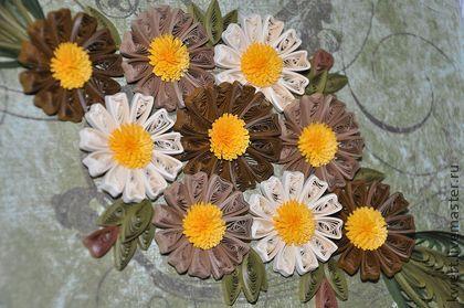 """Картины цветов ручной работы. Ярмарка Мастеров - ручная работа Панно """" Ажурные цветы-2"""", квиллинг. Handmade."""
