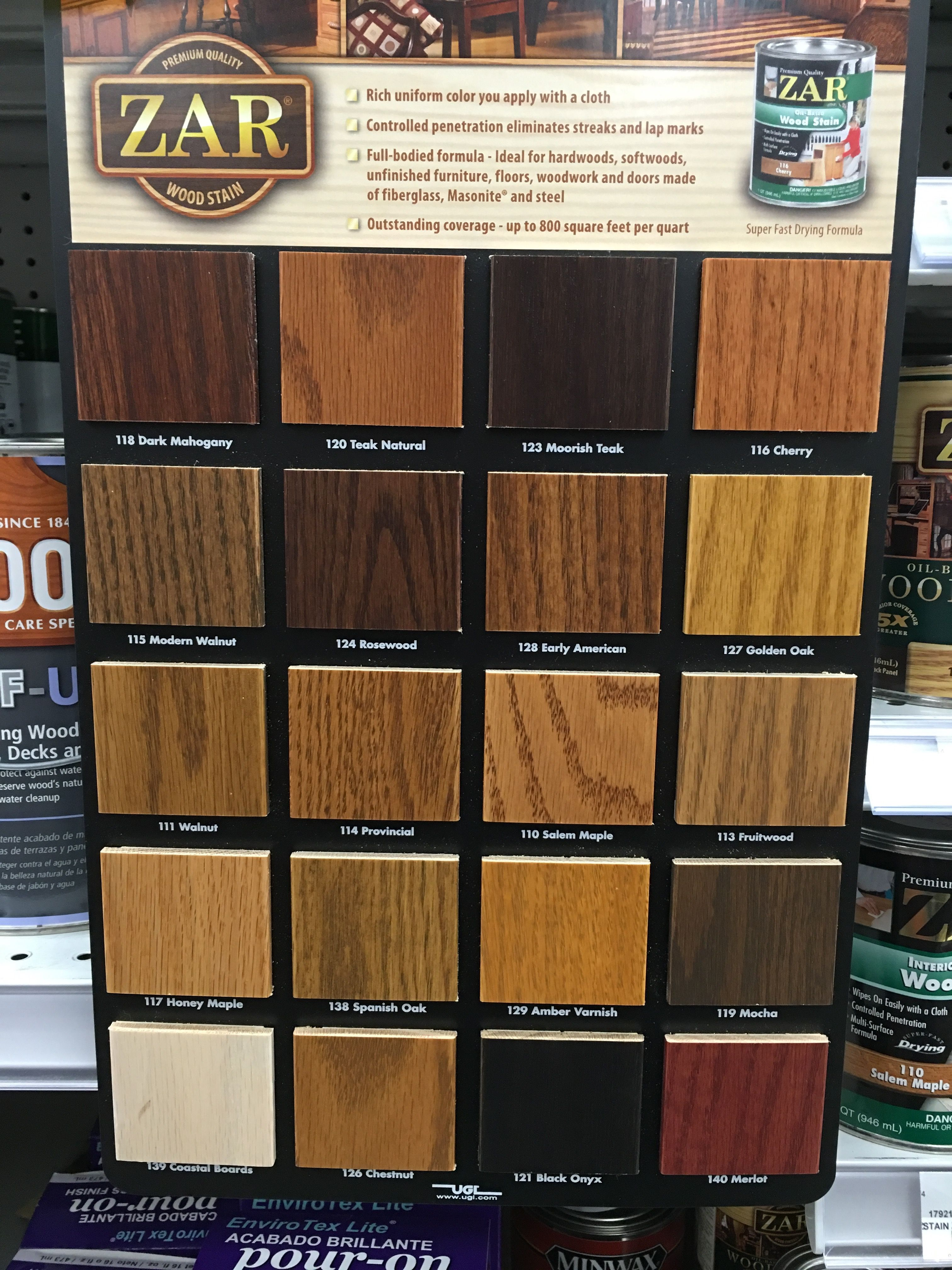 Image result for zar interior stain colors on wood also rh pinterest