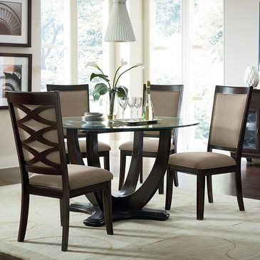 Refined Transitional Details Give Mulholland Boulevard Its Polished Cosmopolitan Style Perfectly C With Images Dining Room Small Glass Dining Room Sets Standard Furniture
