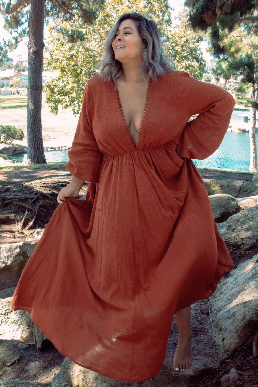 backless maxi dress plus size