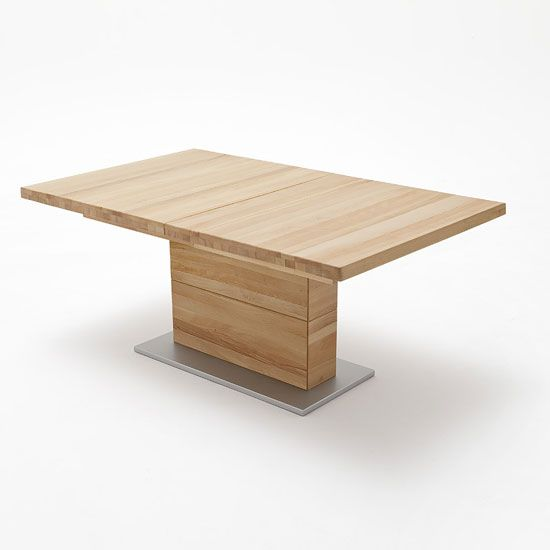 Corato Extendable Rectangular Dining Table Large In Core Beech