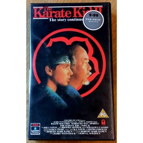 The Karate Kid Part Ii The Story Continues Vhs The Karate Kid Karate
