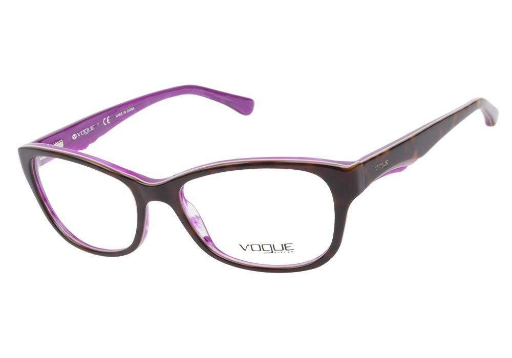 vogue vo2814 2019 havana purple eyeglasses are charmingly striking this modest cateye shaped frame has
