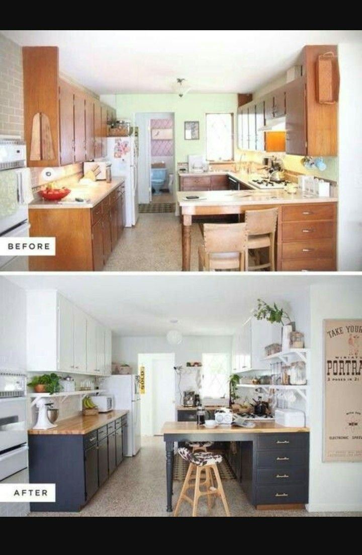 Navy kitchen idea reusing current eclectic