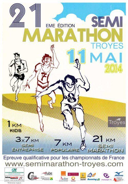 semi-marathon de Troyes. Le dimanche 11 mai 2014 à TRoyes.
