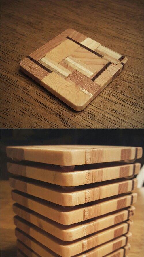 Scrap Wood Coasters Woodworking Pinterest Woodworking Wood