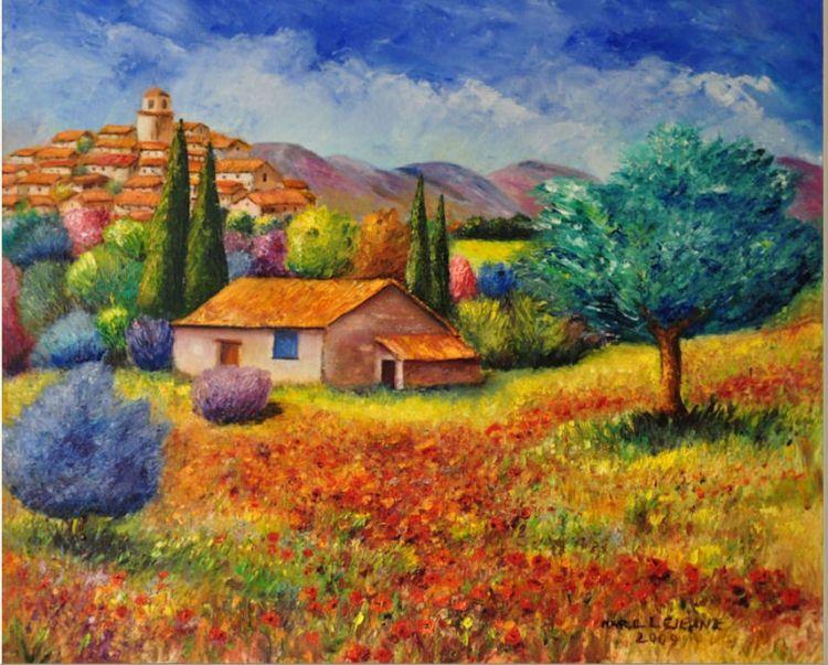 acrylique paysages de provence - Recherche Google | Paysage de provence, Paysage, Tableau peinture