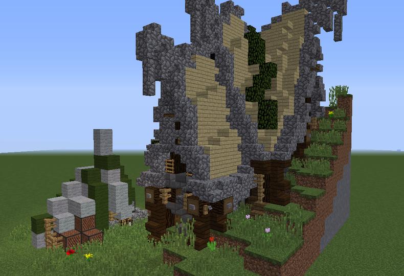 minecraft dragon statue blueprints