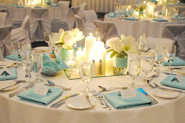 Centre De Table Bleu Ciel Inspire Moi Le Blog Mariage Carr Ment D Co Mariage Pinterest