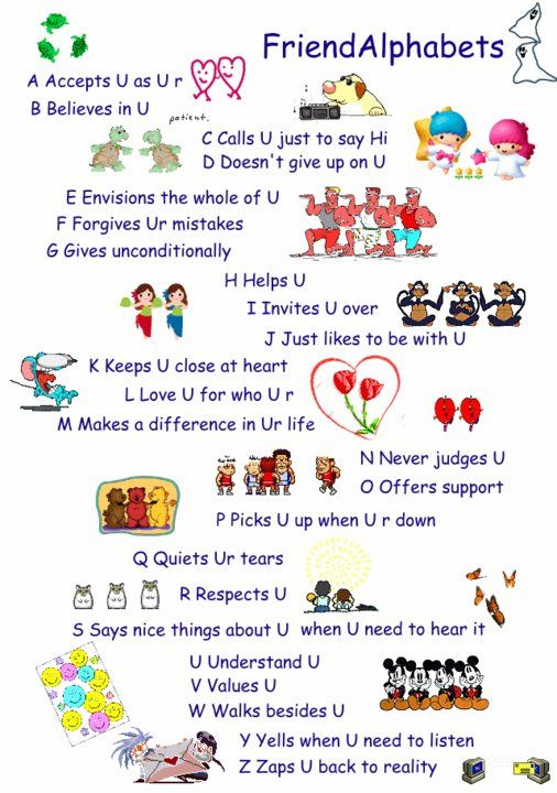 Friends From A To Z Friend Birthday Quotes Friends Quotes
